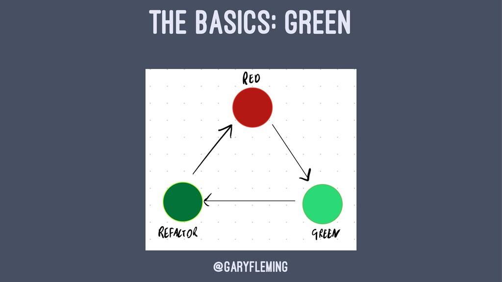 THE BASICS: GREEN @garyfleming