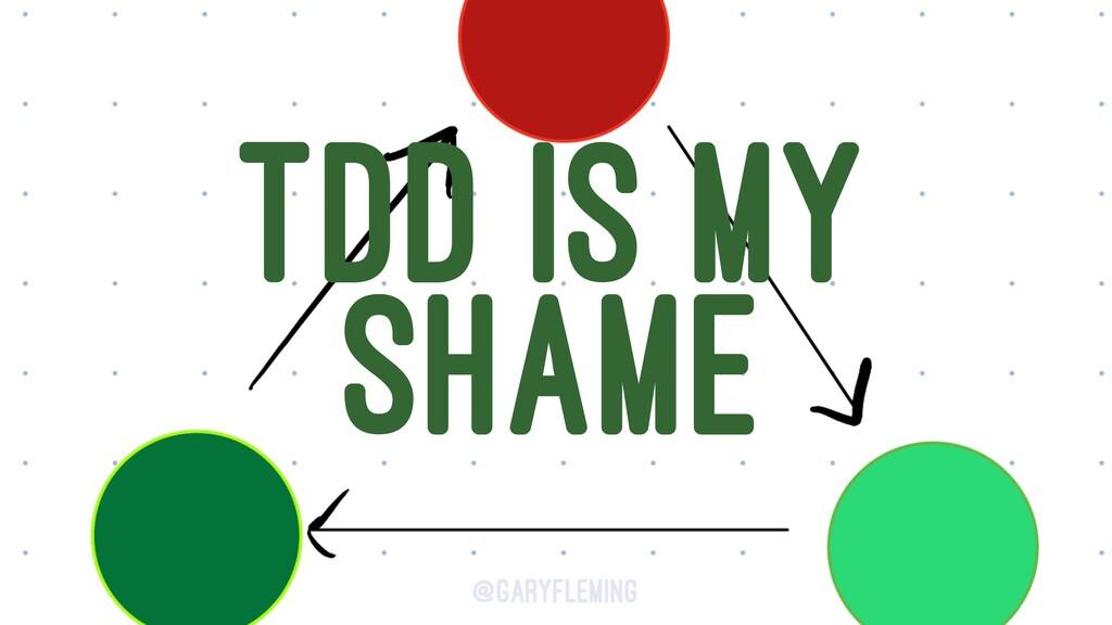 TDD IS MY SHAME @garyfleming