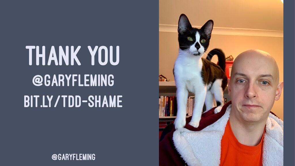 THANK YOU @GARYFLEMING BIT.LY/TDD-SHAME @garyfl...