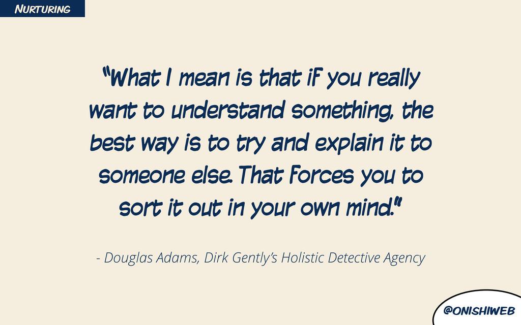 @onishiweb - Douglas Adams, Dirk Gently's Holis...
