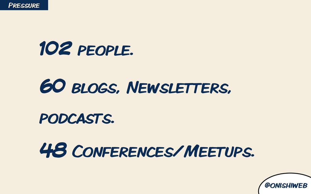 @onishiweb 102 people. 60 blogs, Newsletters, p...