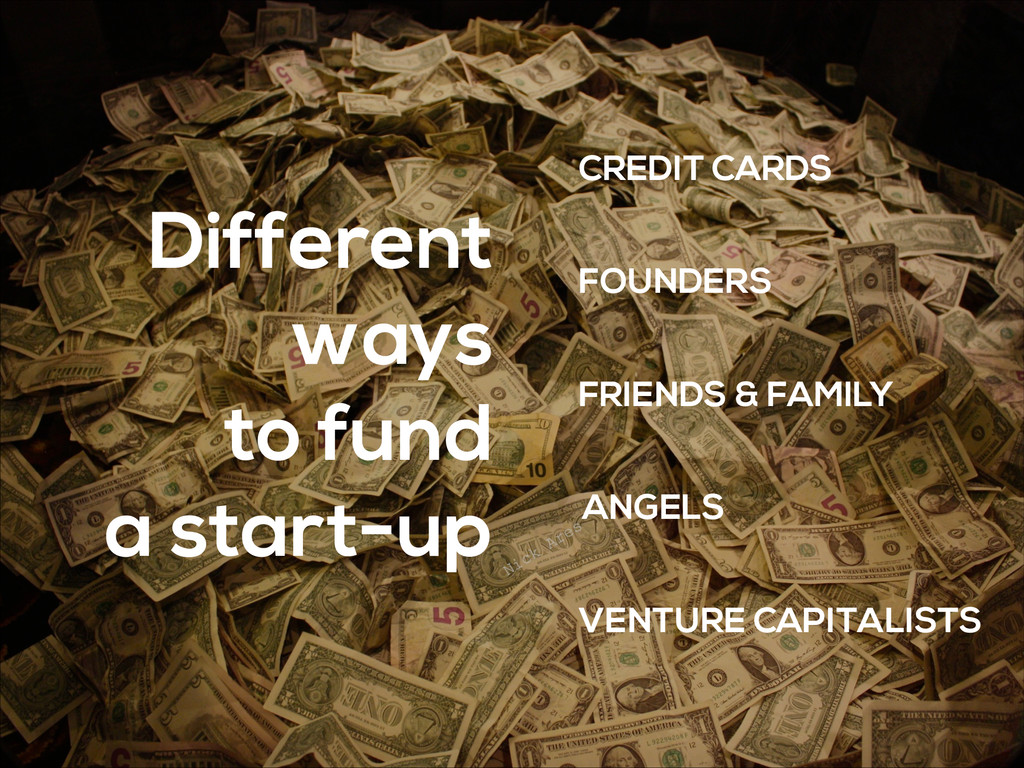 Different ways to fund a start-up CREDIT CARDS ...