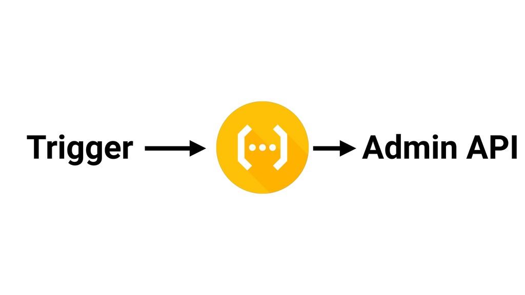Trigger Admin API