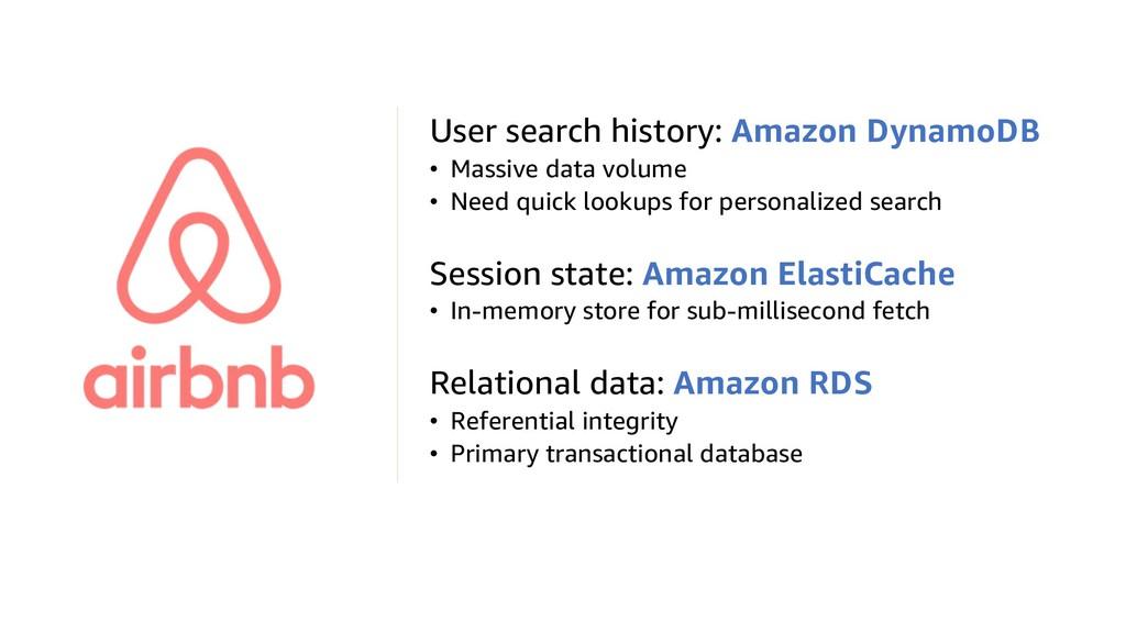 User search history: Amazon DynamoDB • Massive ...