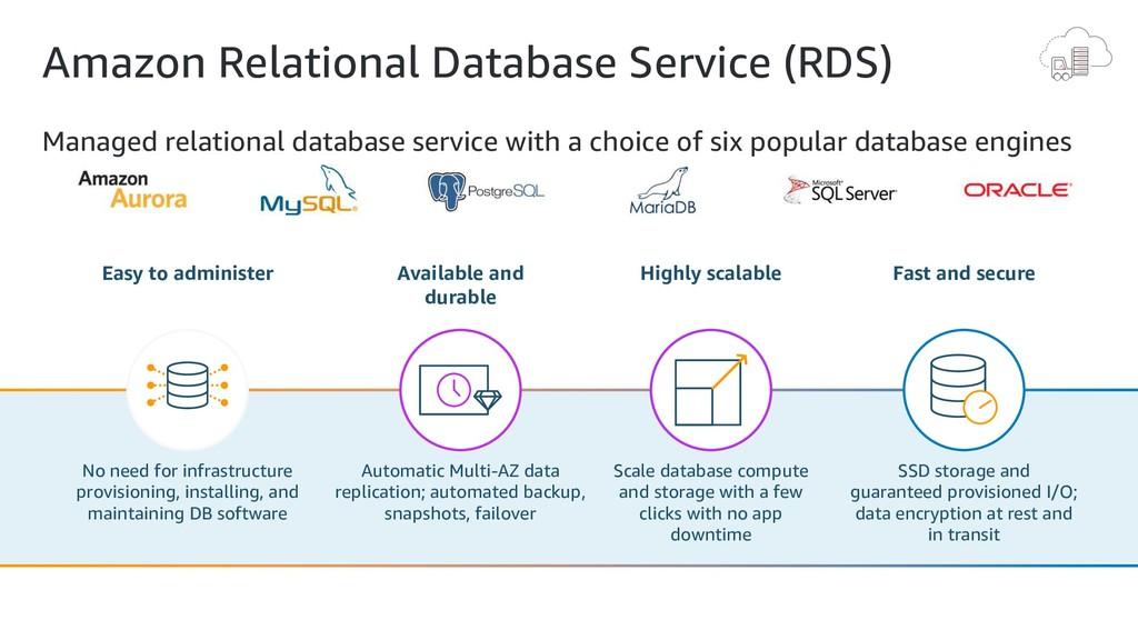 Amazon Relational Database Service (RDS) Manage...