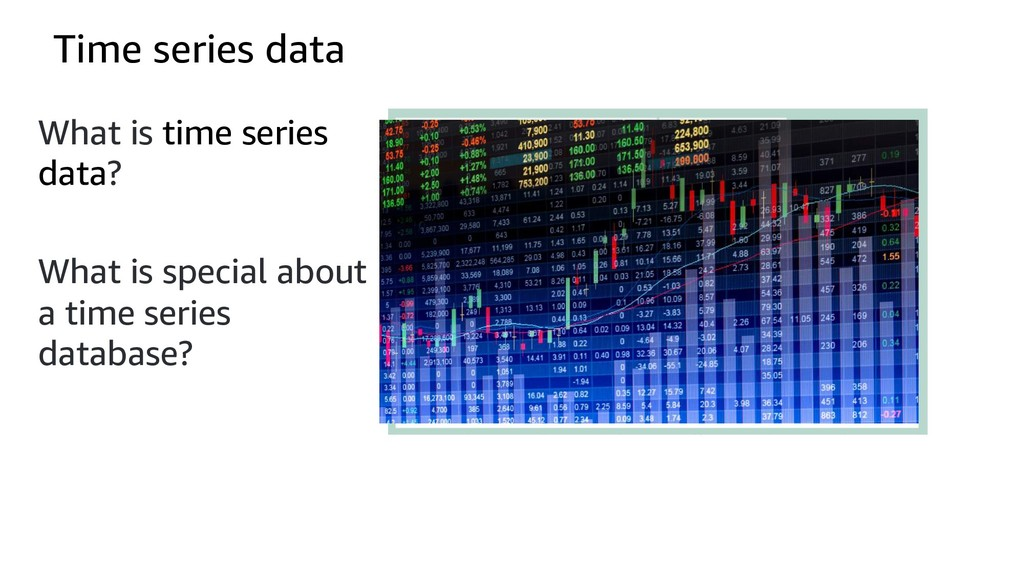 Time series data What is time series data? What...