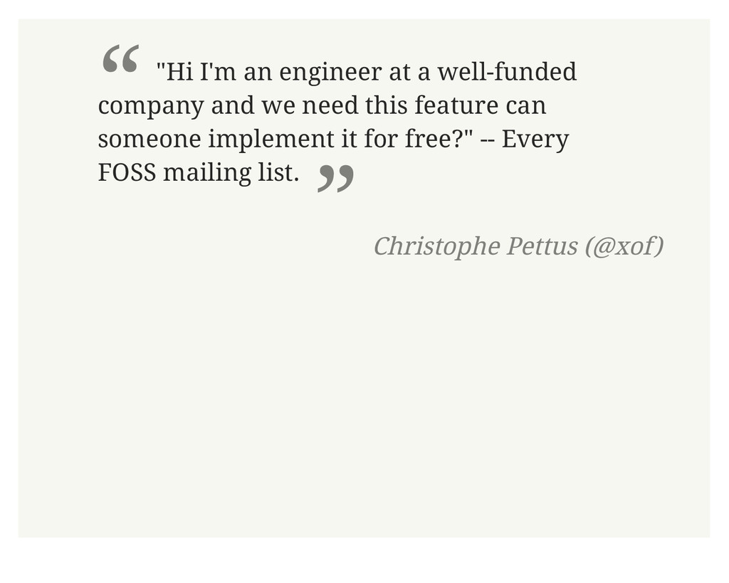 """"""" """"Hi I'm an engineer at a well-funded company ..."""