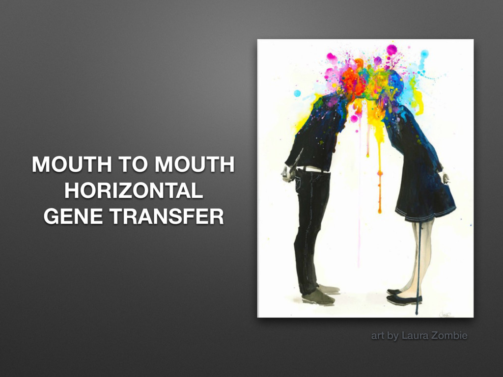 MOUTH TO MOUTH HORIZONTAL GENE TRANSFER art by ...