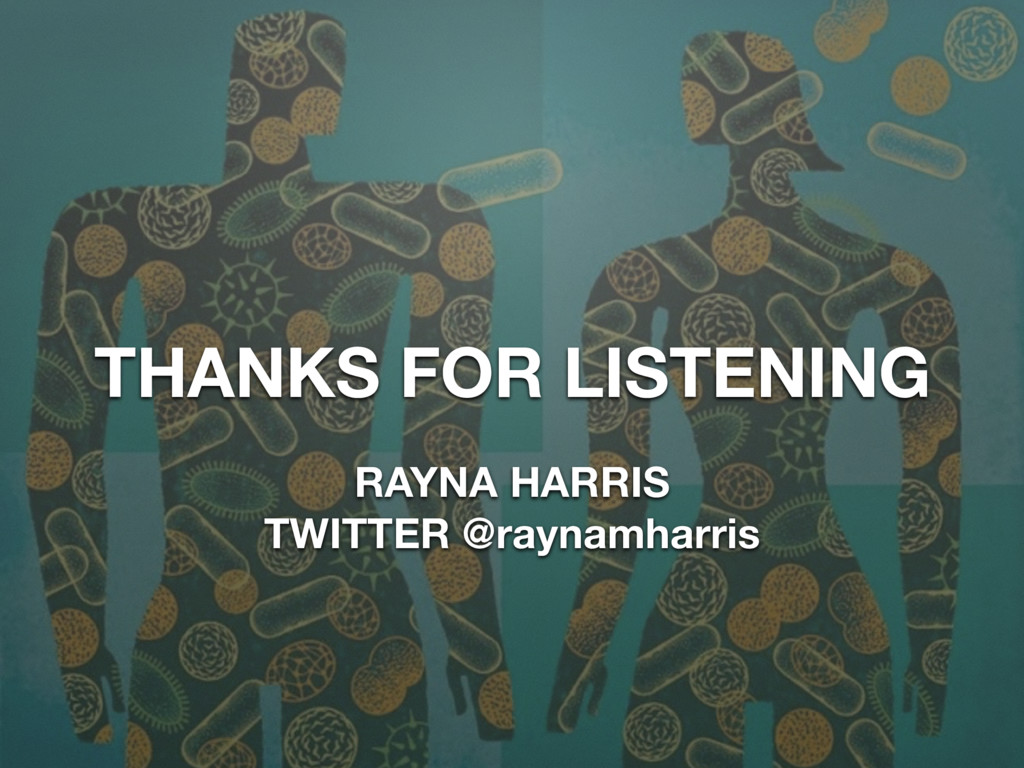THANKS FOR LISTENING RAYNA HARRIS TWITTER @rayn...