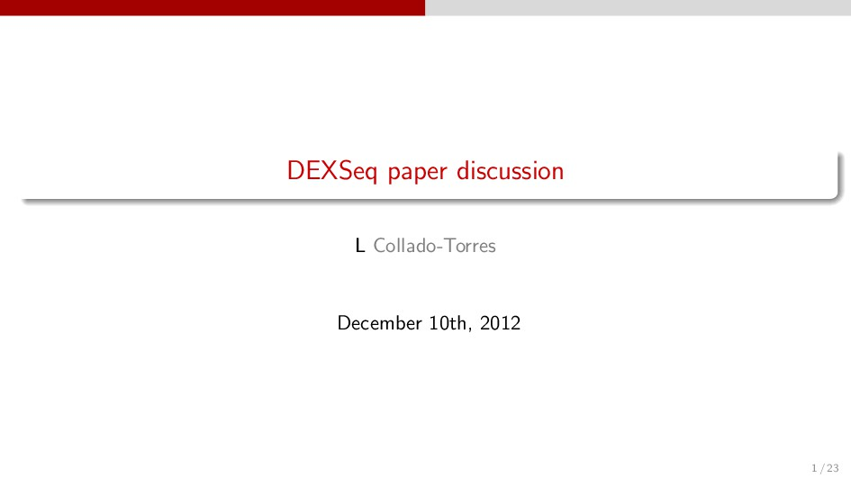 DEXSeq paper discussion L Collado-Torres Decemb...