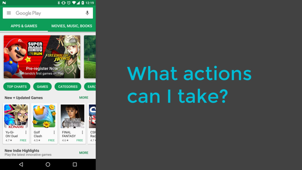 What actions can I take?