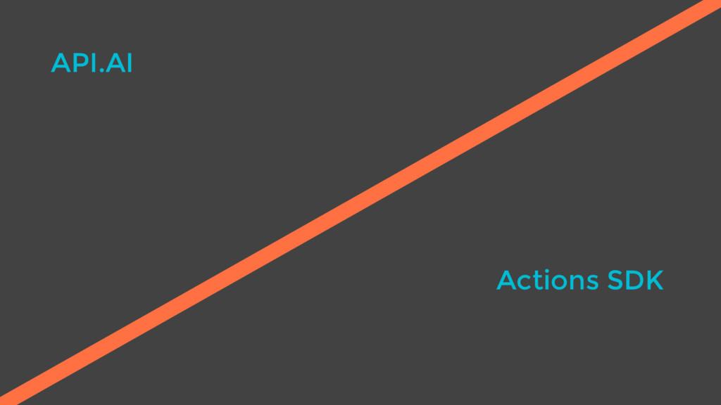 API.AI Actions SDK