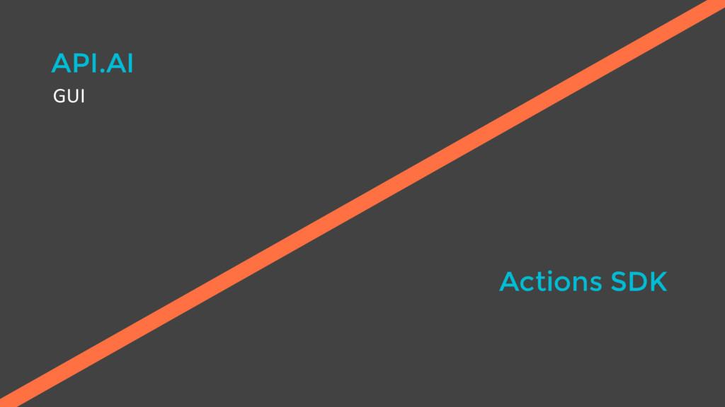 API.AI Actions SDK GUI