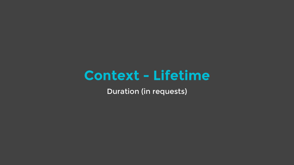 Context - Lifetime Duration (in requests)