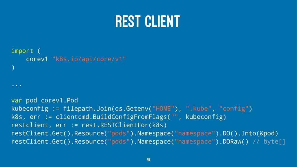 """REST CLIENT import ( corev1 """"k8s.io/api/core/v1..."""