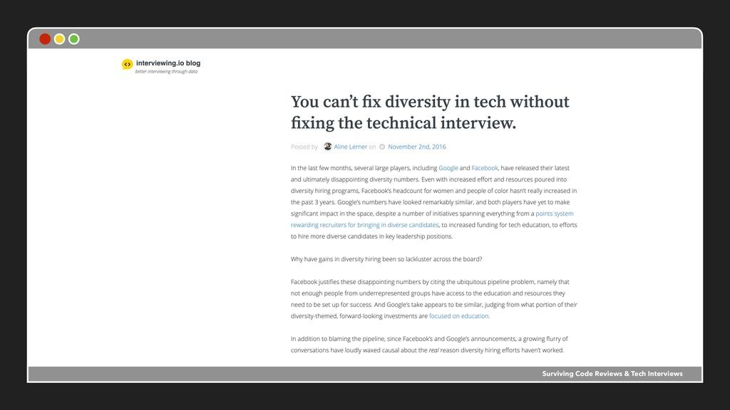 Surviving Code Reviews & Tech Interviews