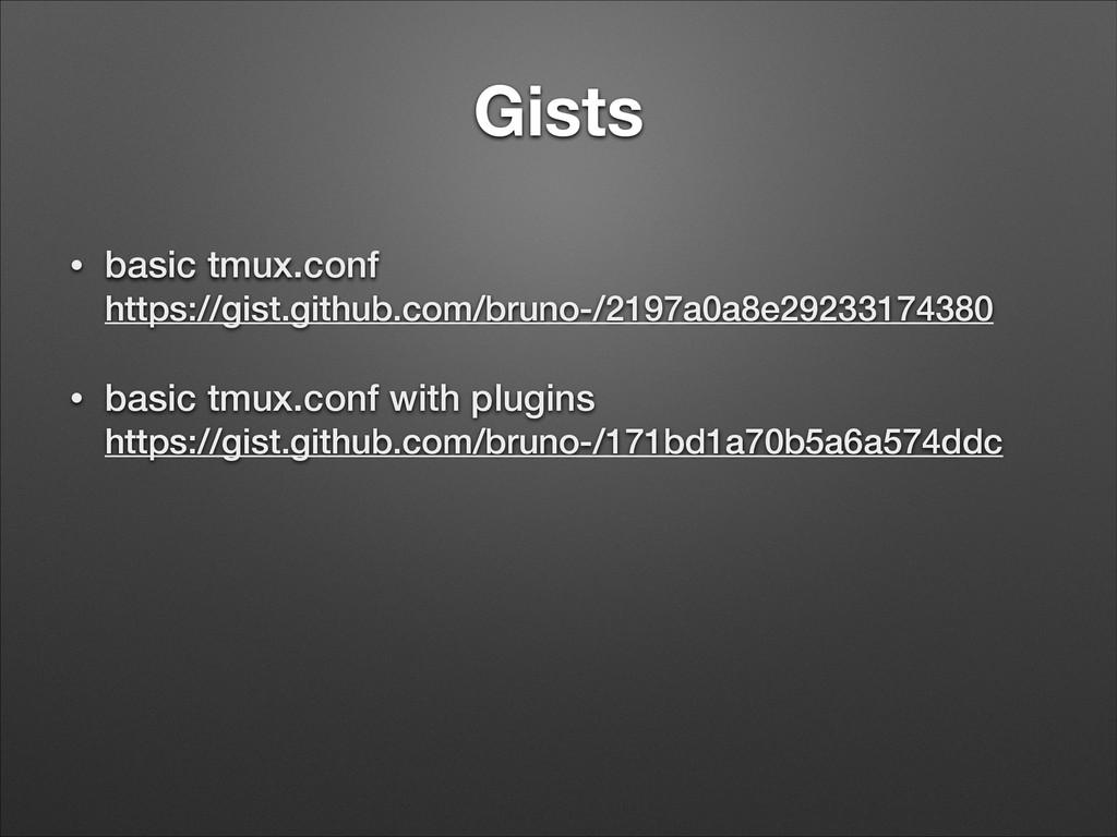 Gists • basic tmux.conf https://gist.github.co...