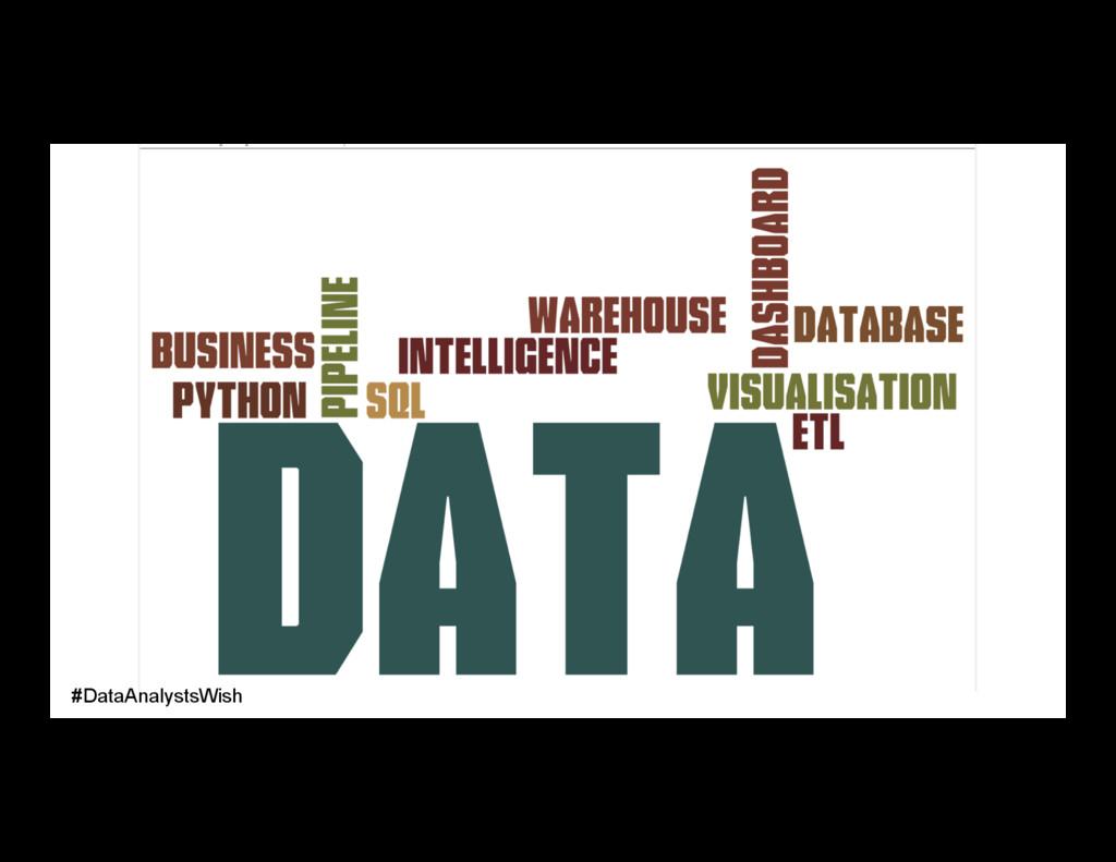 #DataAnalystsWish