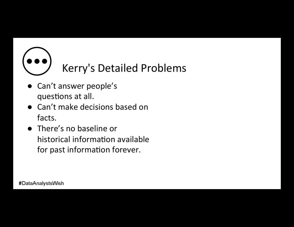 Kerry's Detailed Problems ● Can't answer peopl...