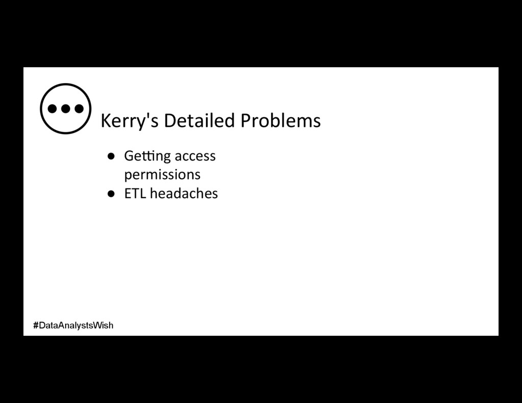 Kerry's Detailed Problems ● Ge_ng access permi...