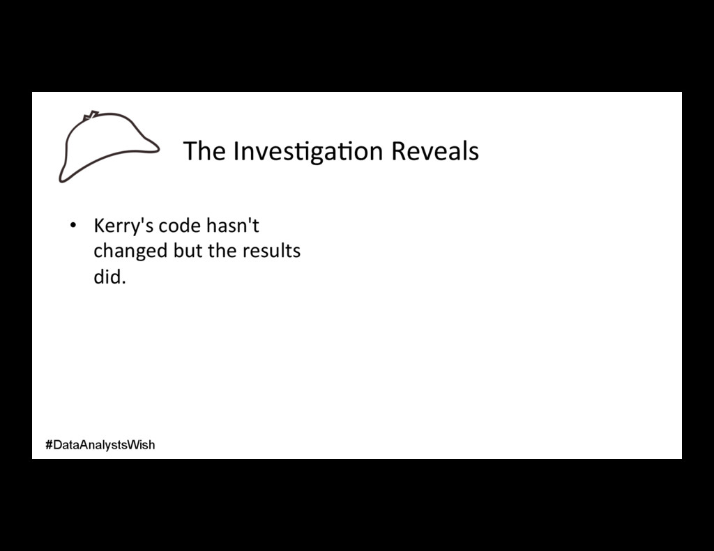 The Inves/ga/on Reveals • Kerry's code hasn't ...