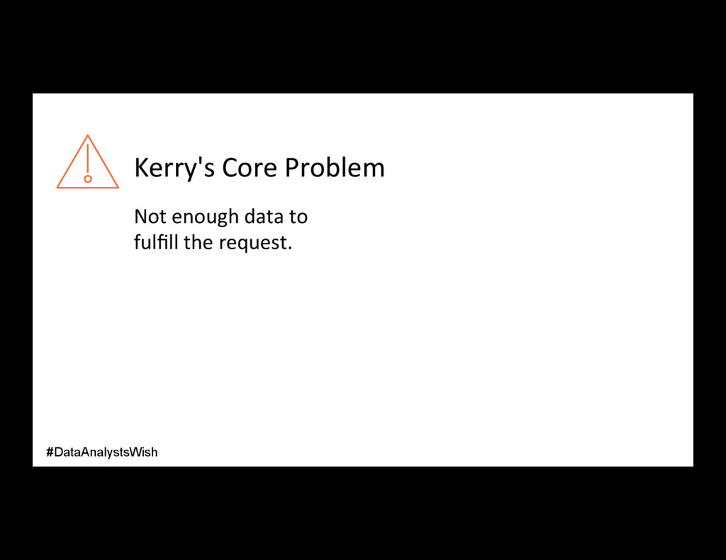 Kerry's Core Problem Not enough data to fulfill ...