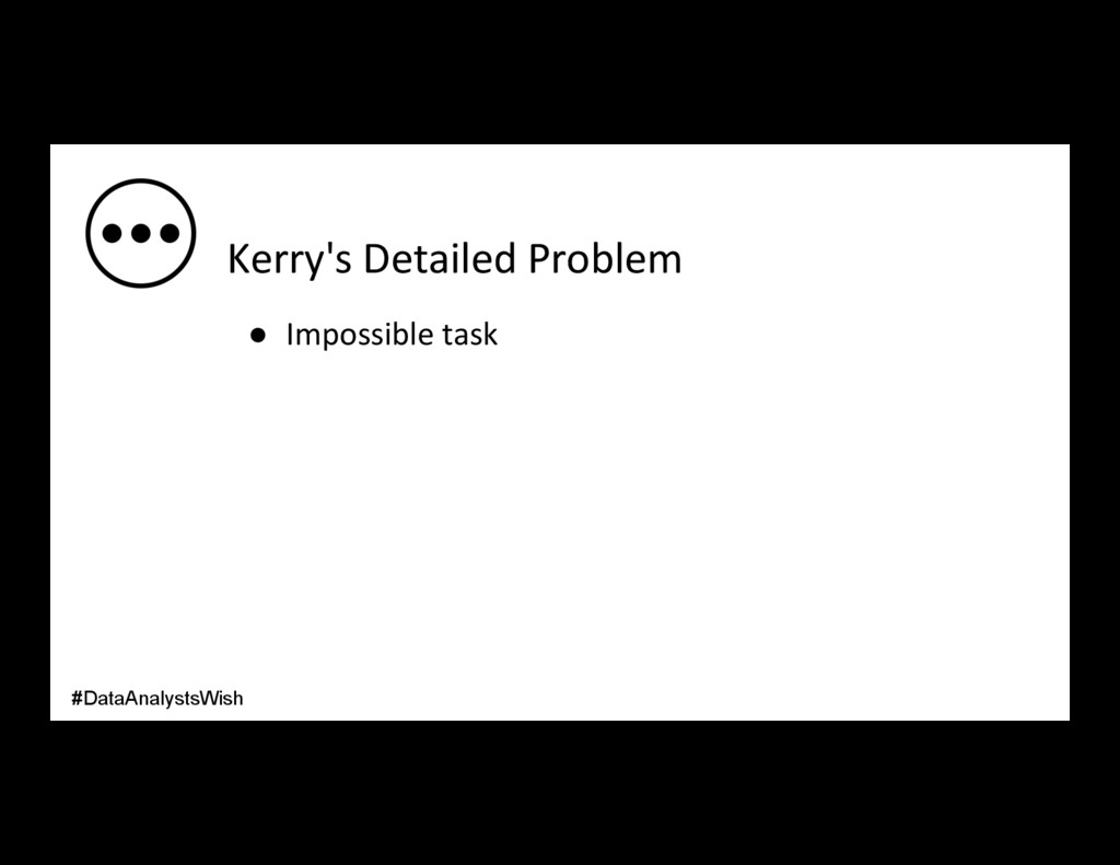 Kerry's Detailed Problem ● Impossible task #Da...