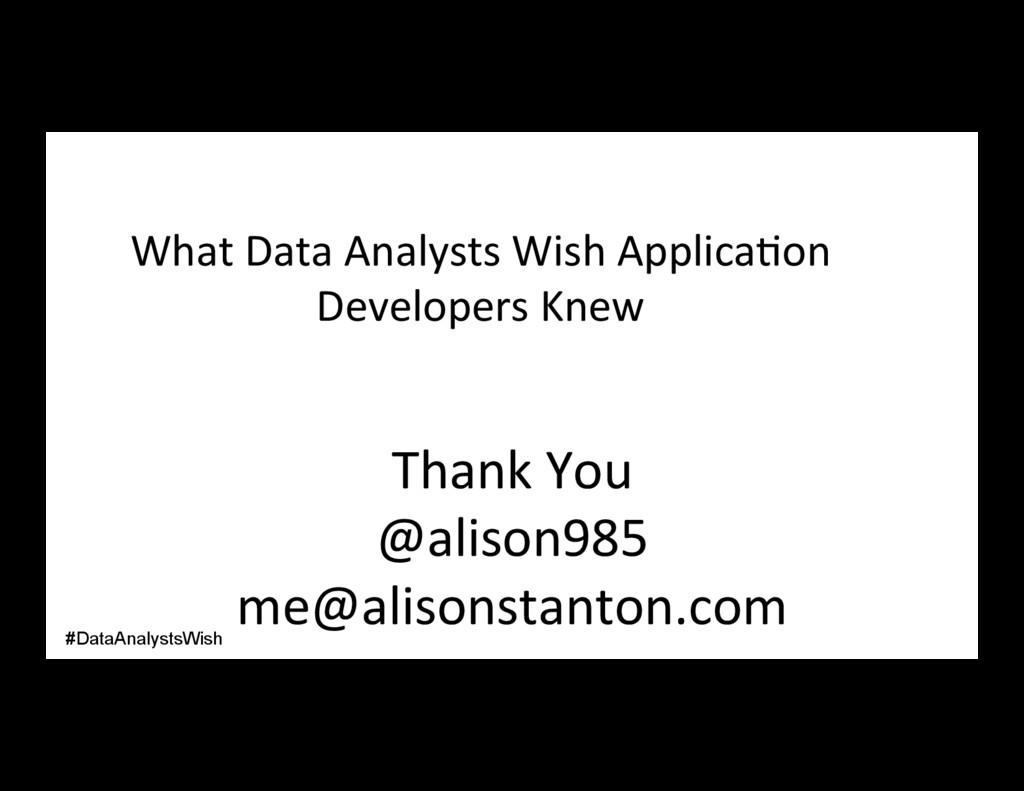 Thank You @alison985 me@alisonstanton.com What ...