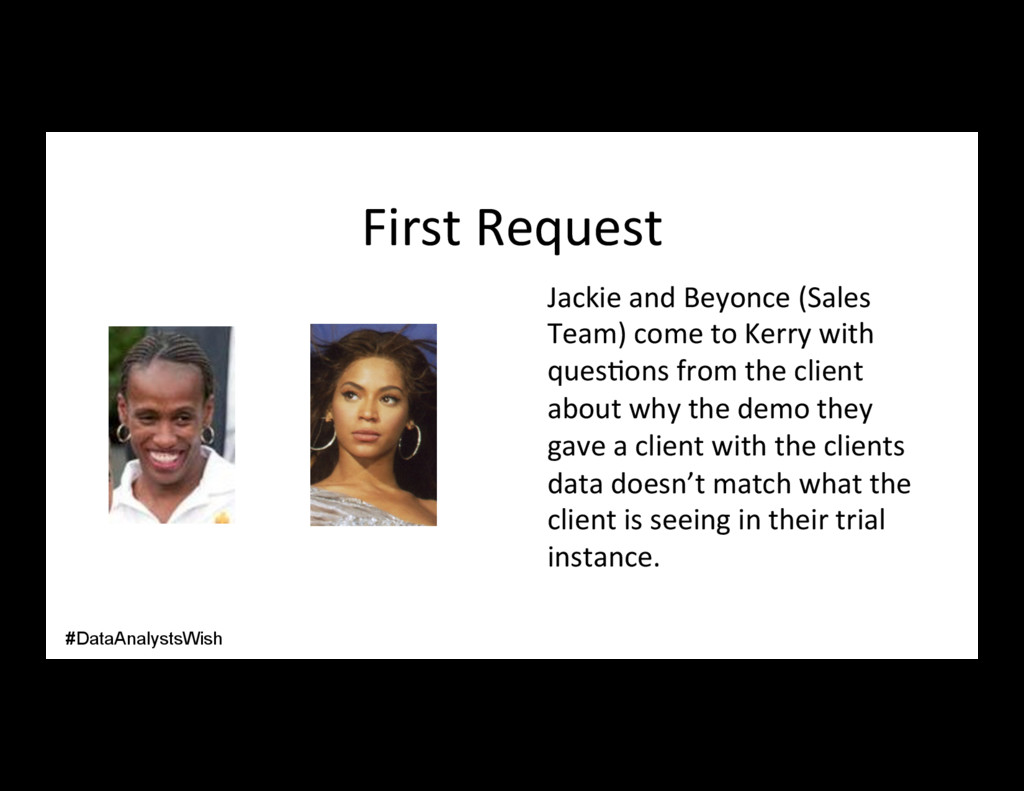 First Request Jackie and Beyonce (Sales Team) c...