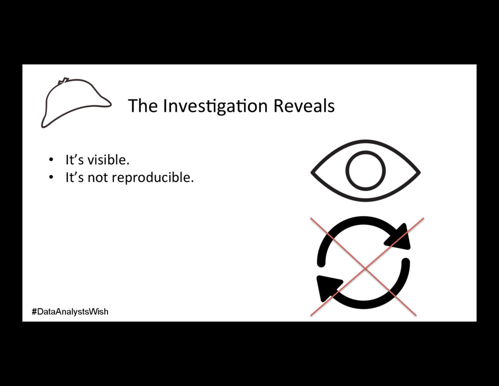 The Inves/ga/on Reveals • It's visible. • It'...