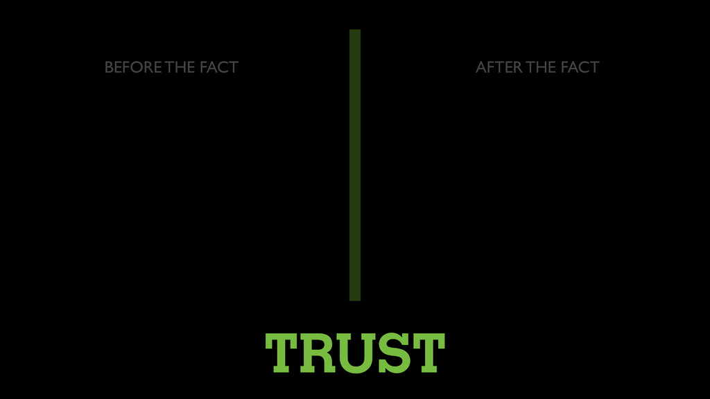 TRUST BEFORE THE FACT AFTER THE FACT