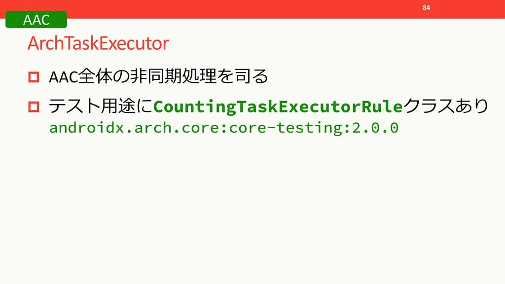 ArchTaskExecutor 84 p AAC p  Cou...