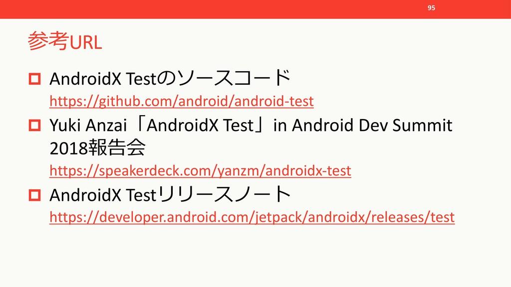 URL p AndroidX Test https://github.com/...