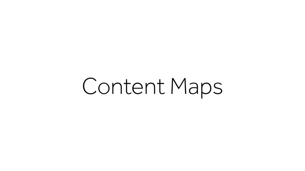 Content Maps