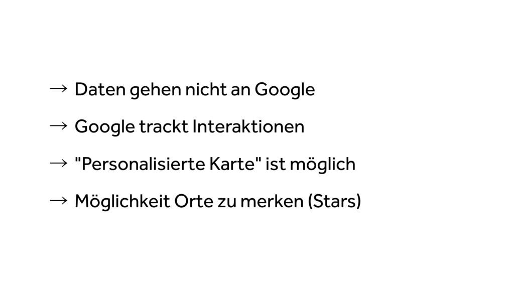 ˠDaten gehen nicht an Google ˠGoogle trackt I...