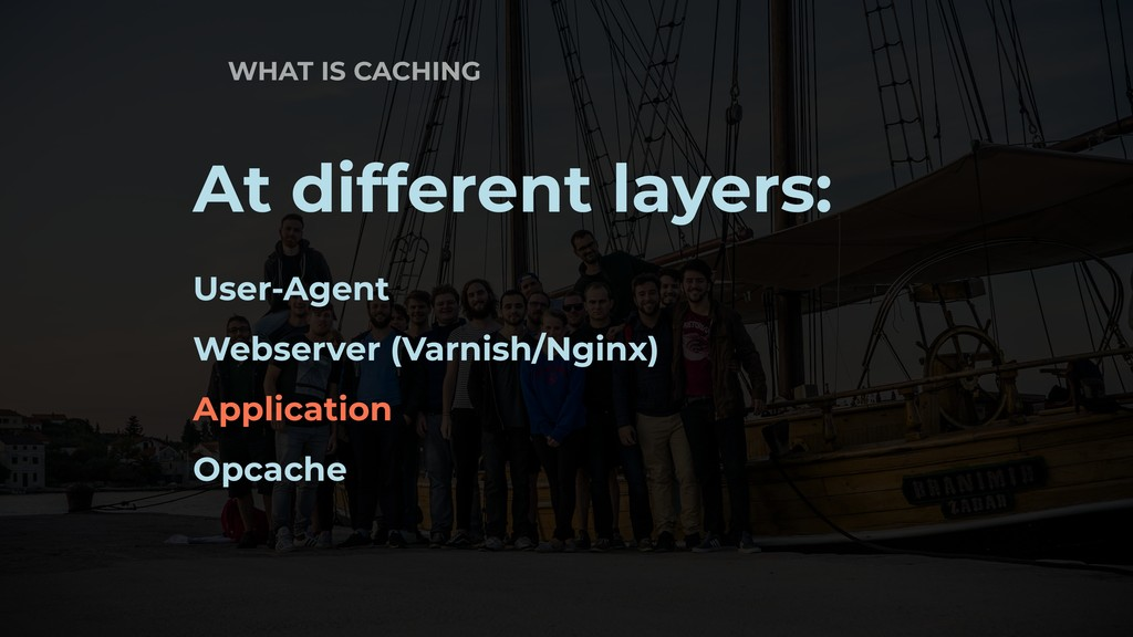 WHAT IS CACHING At different layers: User-Agent...