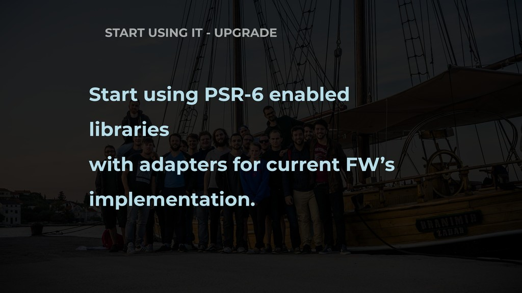 START USING IT - UPGRADE Start using PSR-6 enab...