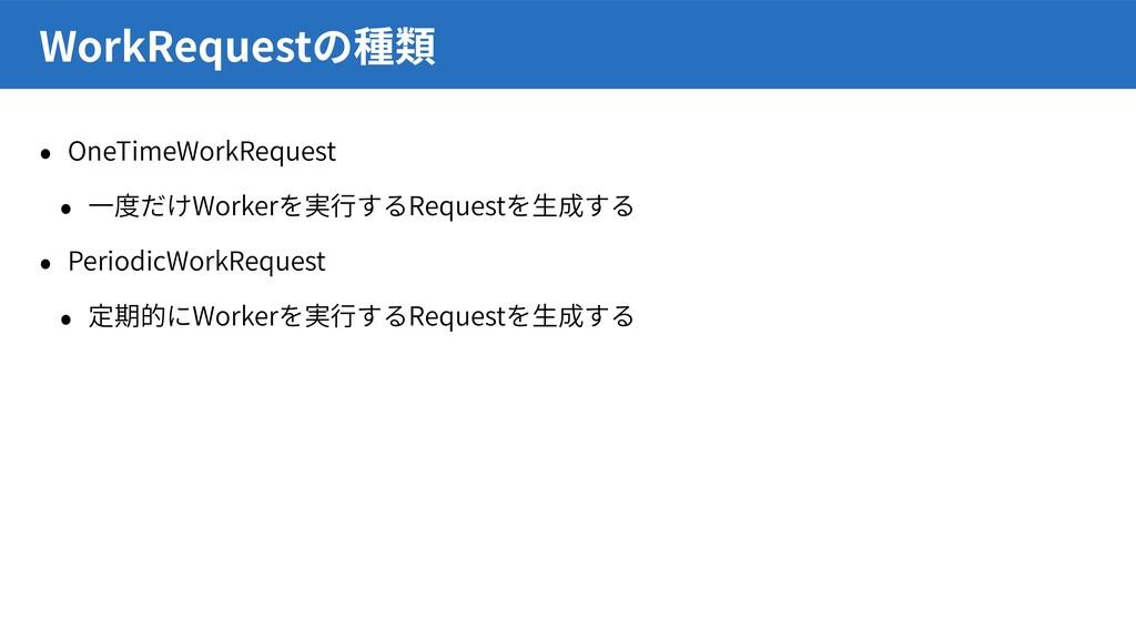 OneTimeWorkRequest Worker Request PeriodicWorkR...