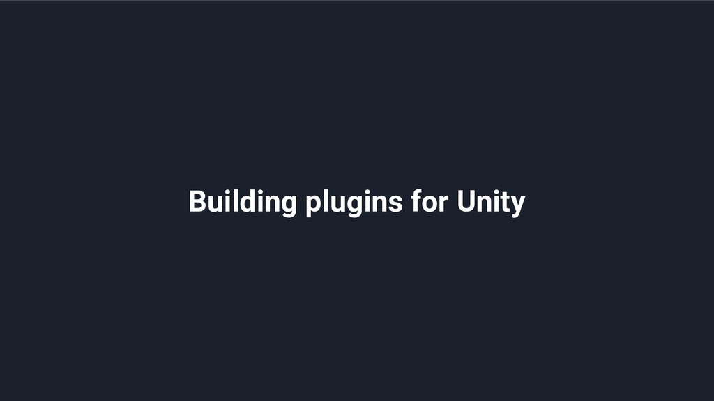 Building plugins for Unity