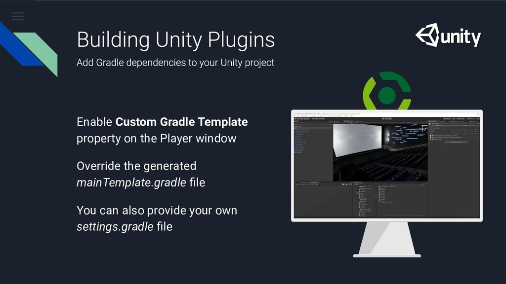 Enable Custom Gradle Template property on the P...