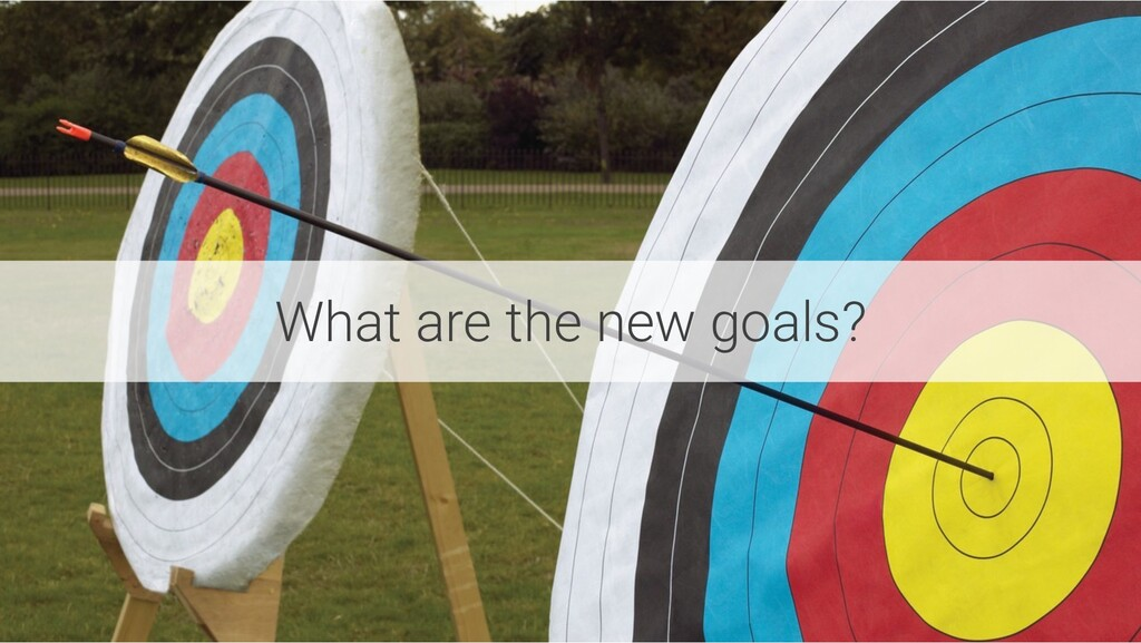 What are the new goals?