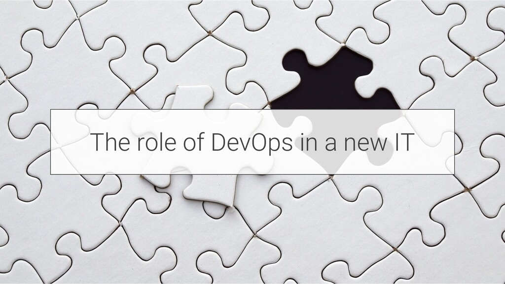 The role of DevOps in a new IT