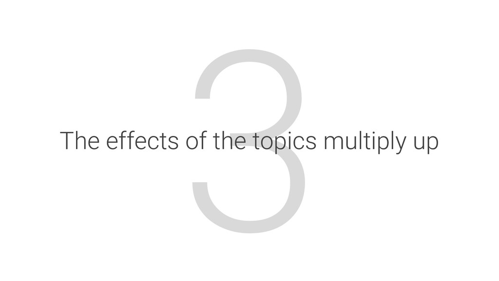 3 The effects of the topics multiply up
