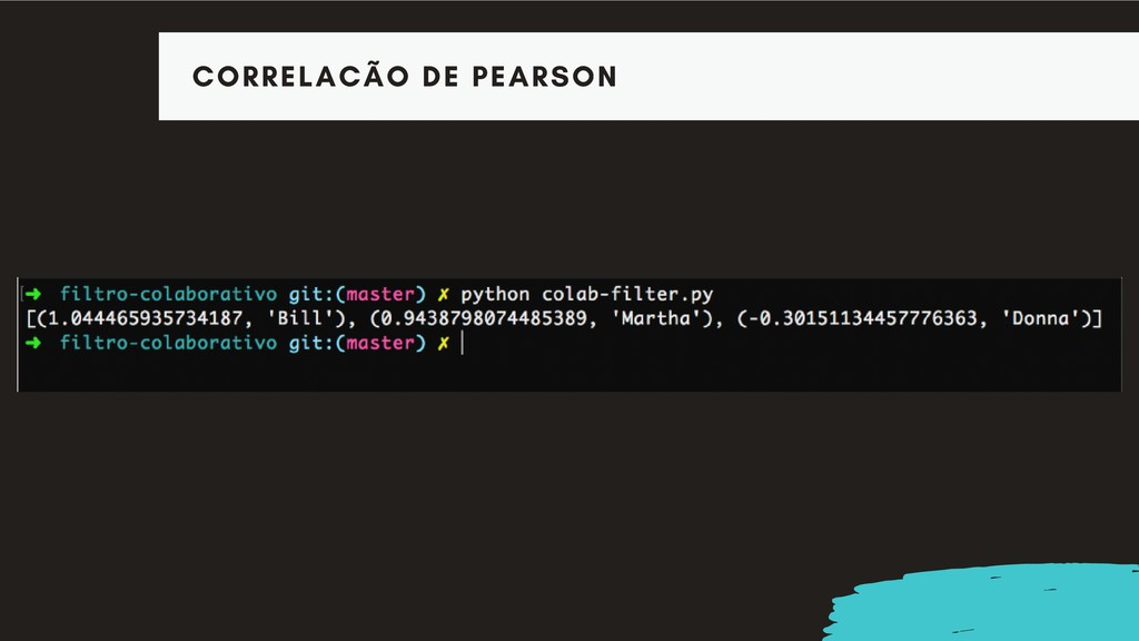 CORRELACÃO DE PEARSON