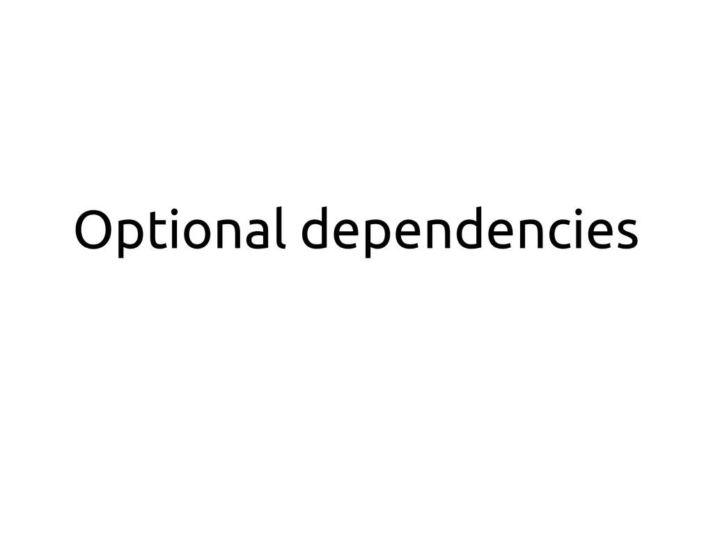 Optional dependencies