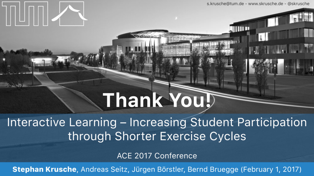 ACE 2017 Conference Stephan Krusche, Andreas Se...