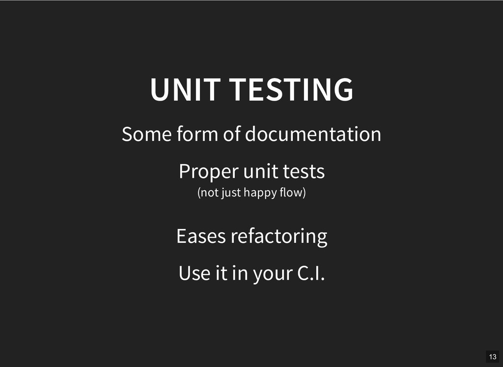 UNIT TESTING UNIT TESTING Some form of document...