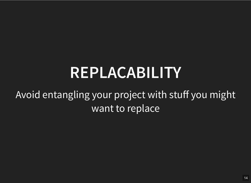 REPLACABILITY REPLACABILITY Avoid entangling yo...