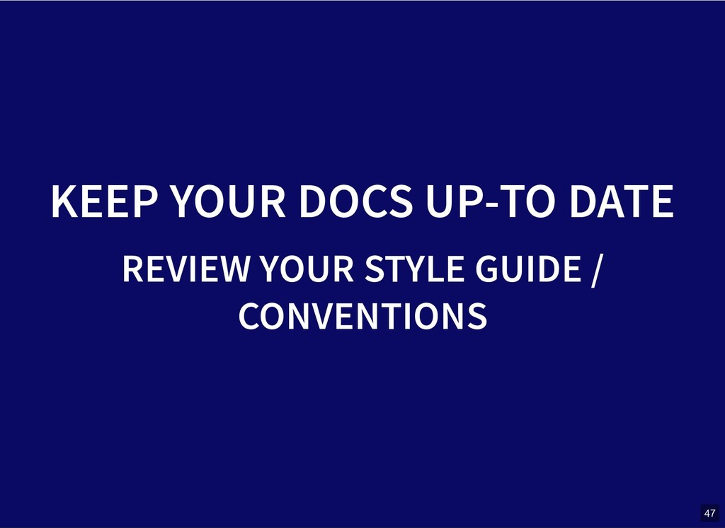 KEEP YOUR DOCS UP-TO DATE KEEP YOUR DOCS UP-TO ...