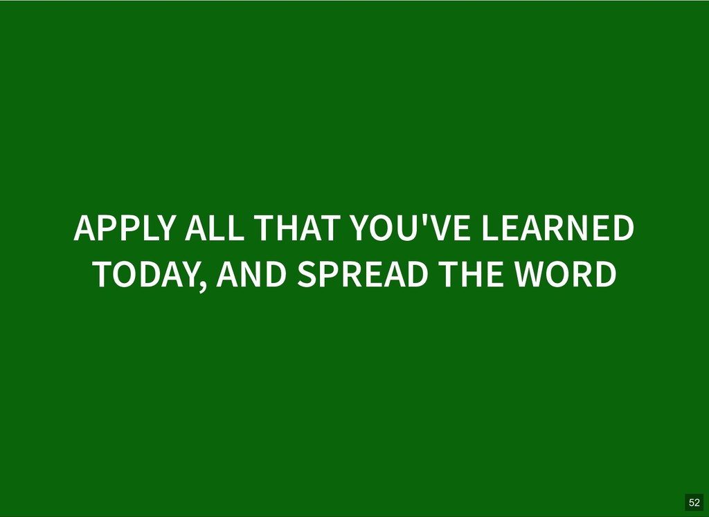 APPLY ALL THAT YOU'VE LEARNED APPLY ALL THAT YO...
